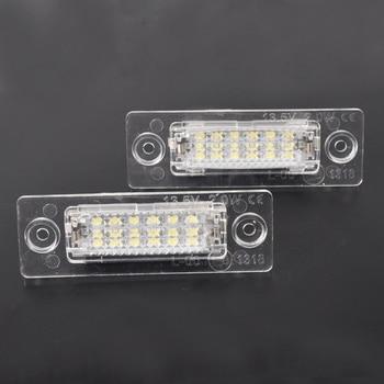 2pcs Car LED License Number Plate Lights Lamp For VW Transporter T5 Multivan Caravelle Eurovan Passat Caddy Touran Golf