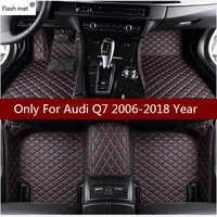 Flash tapis de voiture en cuir tapis de sol pour Audi Q7 2006 2007-2014 2015 2016 2017 2018 Personnalisé auto coussinets tapis d'automobile couvre