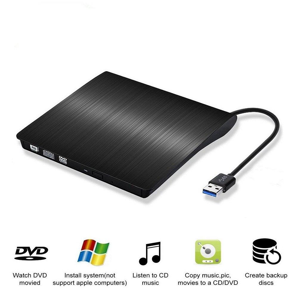 Novo Portátil Ultra-fino Externo Drives de CD DVD Player USB3.0 CD-ROM Externo Gravador de DVD Player para Windows IOS etc