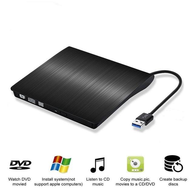 Nuovo Portatile Ultra sottile Esterno Unità CD Lettore DVD USB3.0 Esterno DVD Recorder Lettore CD ROM per Finestre IOS ecc