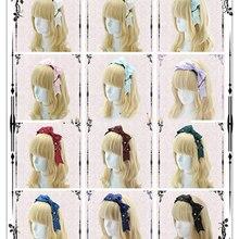 Ручная работа, самодизайн, Лолита, повязка на голову, клетчатая лента, бант, ключ, подвеска, милая повязка