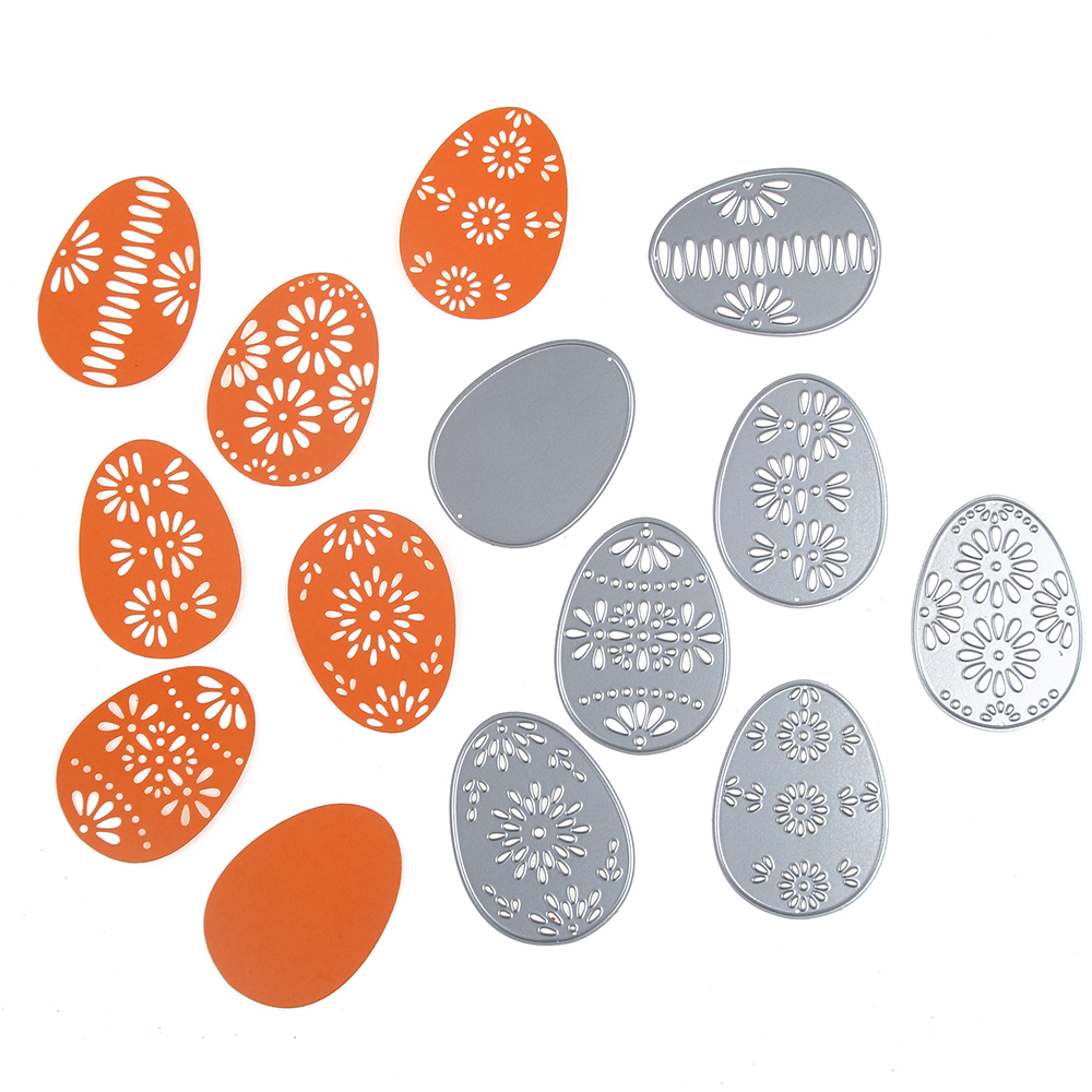 6Pcs Hollow Flower Easter Egg Metal Cutting Dies Stencil Creative Making Scrapbook Decor Photo Album Embossing Paper Cards Craft6Pcs Hollow Flower Easter Egg Metal Cutting Dies Stencil Creative Making Scrapbook Decor Photo Album Embossing Paper Cards Craft