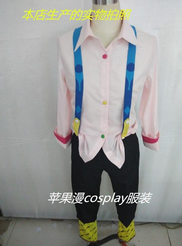 Розовый/белый Juzo Джузо Rei Токио вурдалак Токио гуру Косплэй костюм Juuzou Suzuya полный набор (рубашки + Штаны + обувь)