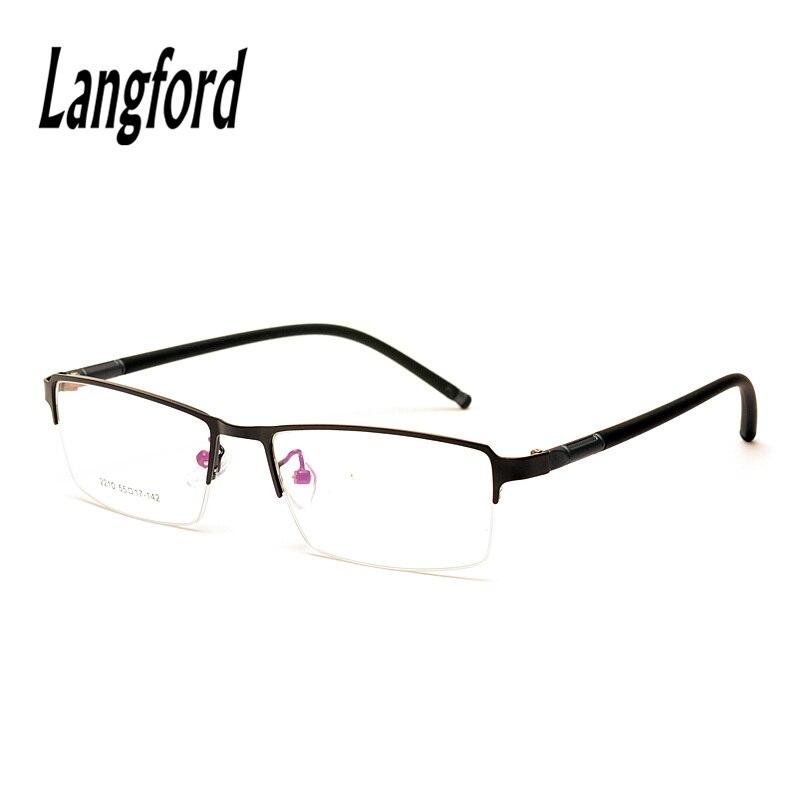 Langford marke halbe rahmen brillen rahmen männer optische legierung ...