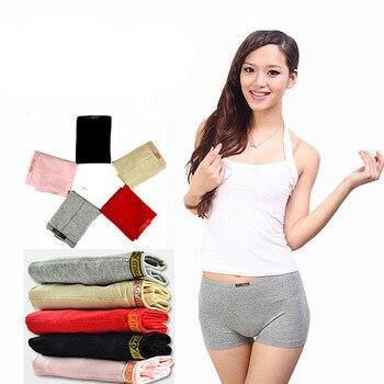 Fashion Boyshort Cotton Boxer Lady Underwear Women Comfortable Short Female Panty Mid Waist Seamless Female Women's Panty