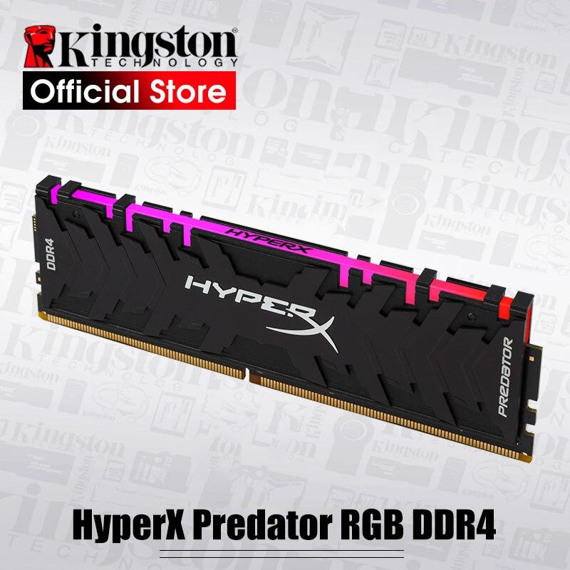 Kingston HyperX Predator RGB 8GB 3000MHz DDR4 CL15 DIMM 288-pin XMP Memoria Ram ddr4 Desktop Memory Rams for Computer Games Ram kingston 8gb 2400mhz ddr4 cl15 low voltage 1 2v dimm hyperx fury black desktop computer memory ram