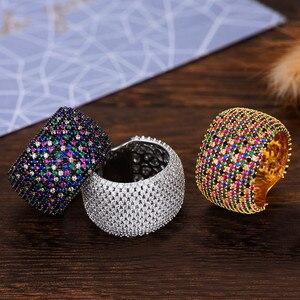 Image 1 - Godki luxo zircônia cúbica anéis de casamento para mulheres nupcial noivado casamento jóias cz femmale acessórios dedo inteiro anéis