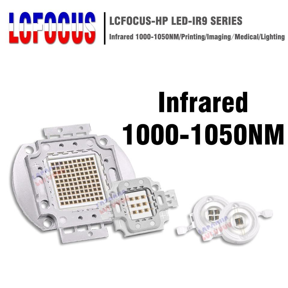 High Power LED Chip IR 1000nm 3W 5W 10W 20W 30W 50W 100W Infrared 1000 NM