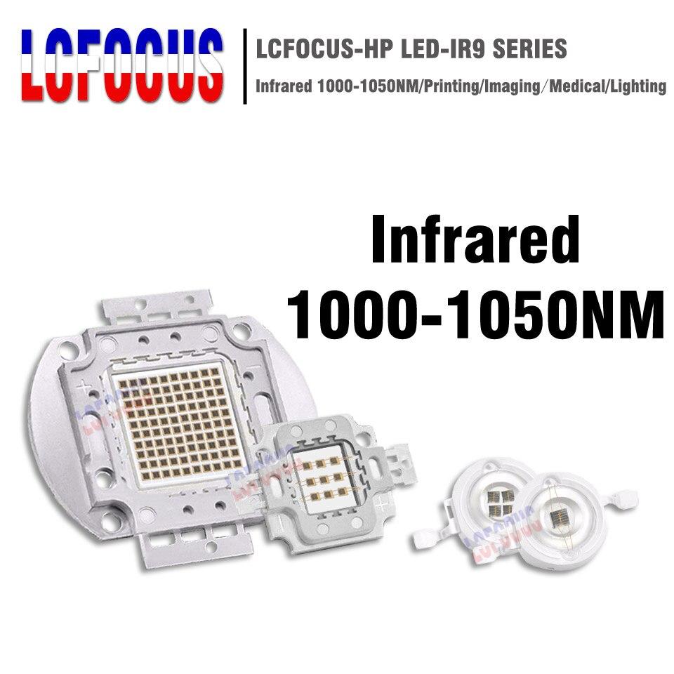 Haute puissance puce LED IR 1000nm 3 W 5 W 10 W 20 W 30 W 50 W 100 W infrarouge 1000 NM émetteur lampe lumière perle COB 3 5 10 20 30 50 100 W Watt