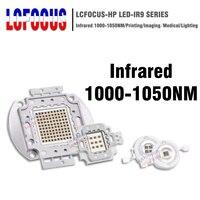 High Power LED Chip IR 1000nm 3W 5W 10W 20W 30W 50W 100W Infrared 1000 NM Emitter Lamp Light Bead COB 3 5 10 20 30 50 100 W Watt