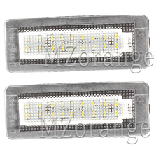 2Pcs 18SMD LED Car Number License Plate Light Lamp Error Free For Benz Smart Fortwo Coupe Convertible 450 451 W450 W453