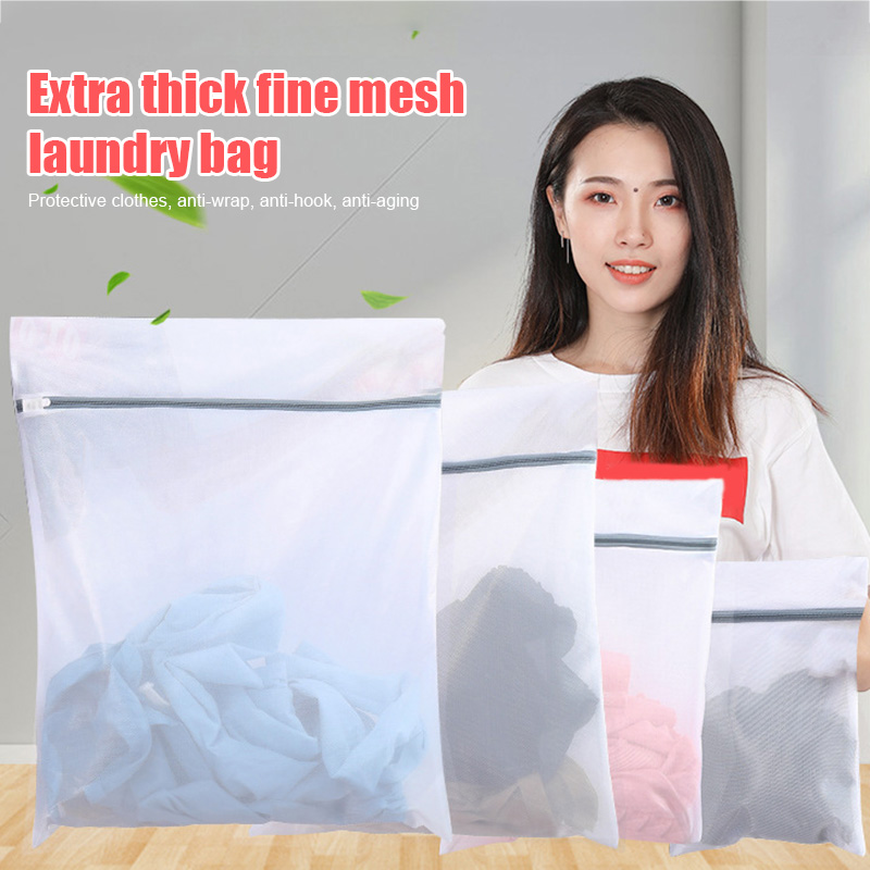 3 Pcs Zippered Laundry Bags Reusable Mesh Washing Bags Laundry Bra Lingerie Wash Bag For Home MYDING