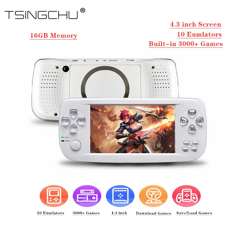 TSINGO Console Game-Player Video-Game 64bit Pap Kiii Handheld 3000 Built-In Support-Av