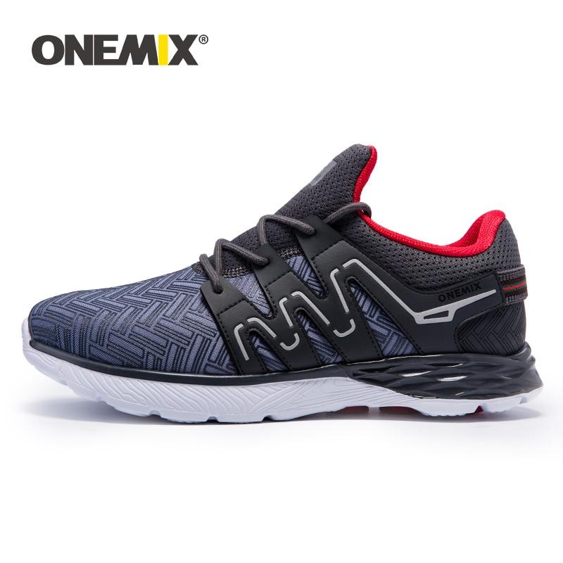 Chaussures de course pour hommes Onemix chaussures de marche en plein air respirantes chaussures de sport pour hommes chaussures de jogging légères pour baskets athlétiques pour adultes