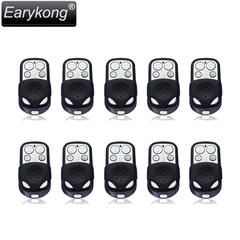 2017 new Free shipping NEW 10pcs 433MHz wireless black metal remote alarm High quality Home security alarm FOR GSM Alarm System 5pcs lot free shipping 433hmz black metal wireless remote control for home security alarm system