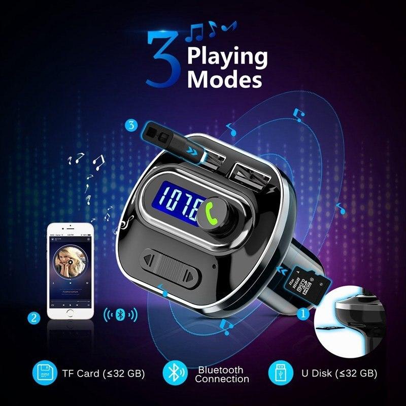 Fm-передатчик беспроводной радио адаптер автомобильный fm-передатчик адаптер автомобильный комплект музыка Универсальный AUX Стерео Обнаружение напряжения