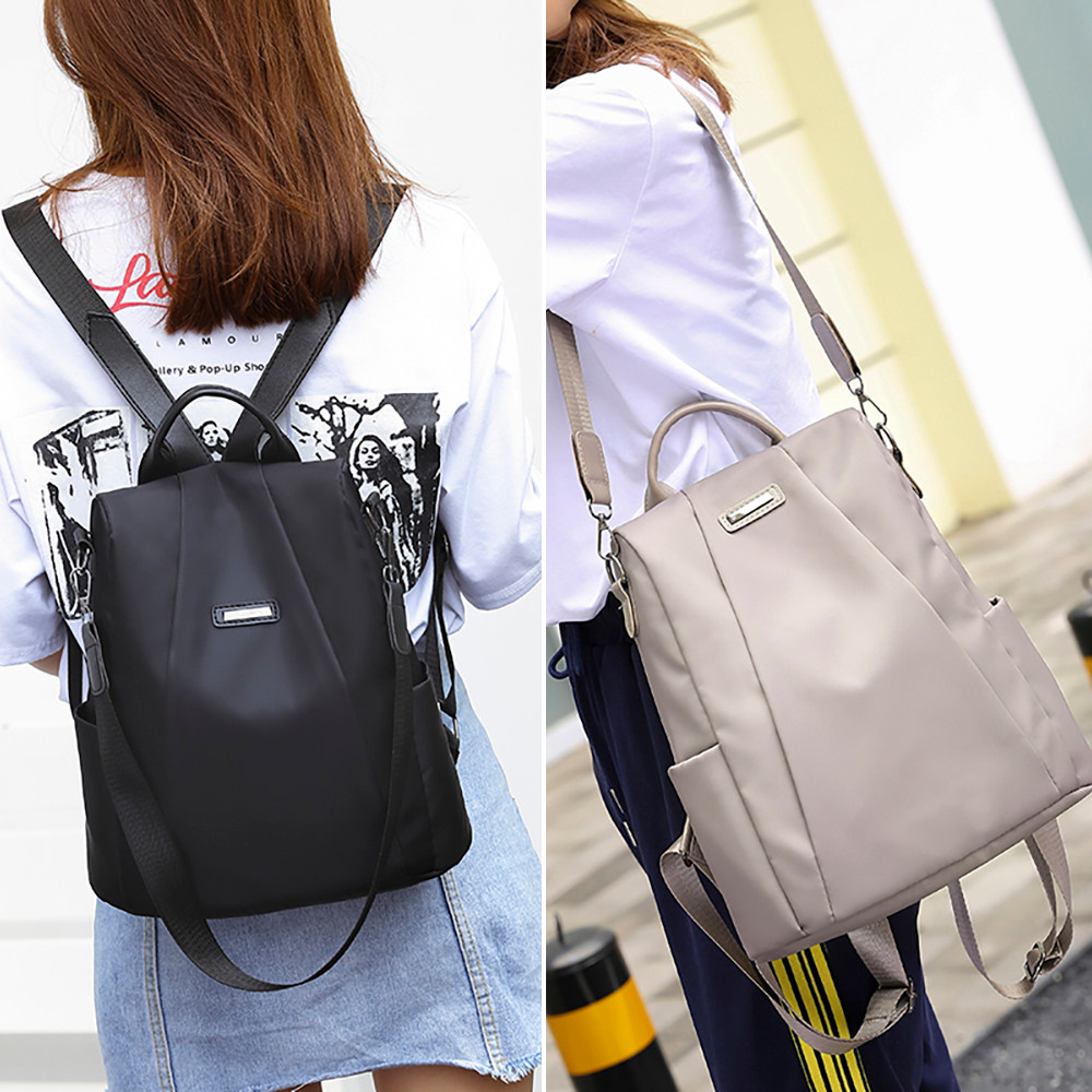 2019 Fashion Women Solid ZipperTravel backpack Female Oxford travel bag anti-theft cloth backpack mujer mochila mu2019 Fashion Women Solid ZipperTravel backpack Female Oxford travel bag anti-theft cloth backpack mujer mochila mu