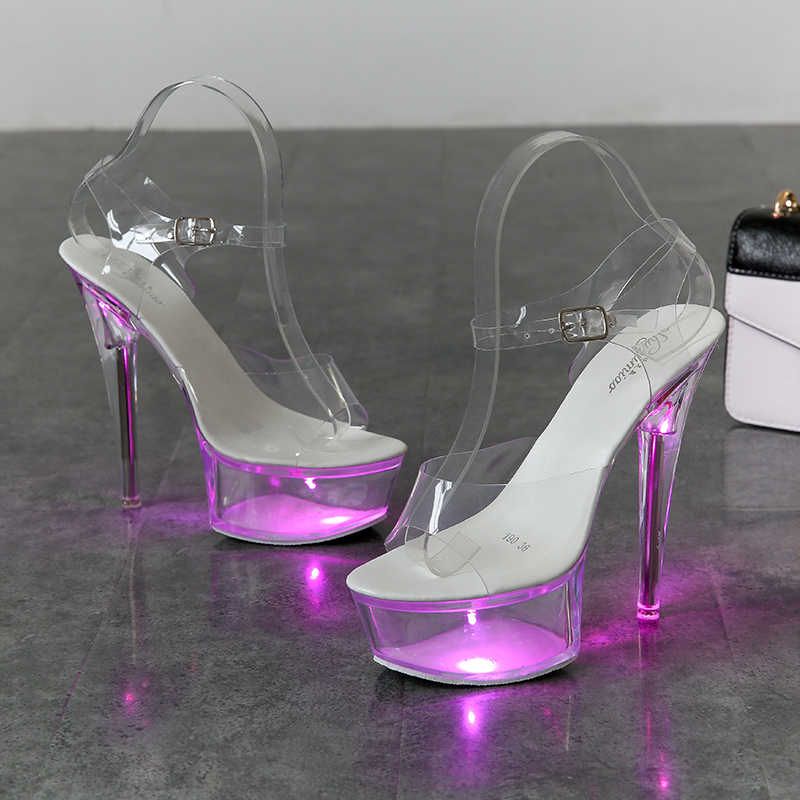 6 Color Sandals Light Up Glowing Shoes