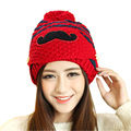 Women Girls female winter hats  lovely Winter beanie hat Warm Cap pink beanie With Mouth Mask G310Y12 Cappelli invernali