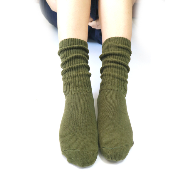 1Pair Womens Fashion Casual Solid Color Long Sock 3