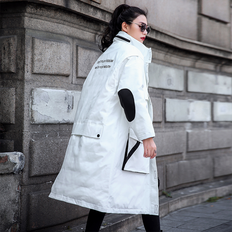Hiver Surdimensionné Parka Coton Le Femmes Longue Arrivée Veste Froid Femme 2019 Vêtements Rembourré White Contre D'hiver Nouvelle Manteau HBtwxqgB