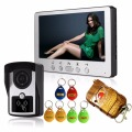 Super waterproof 7`` TFT Color Video door phone Intercom Doorbell System Kit IR Camera doorphone monitor Speakerphone intercom