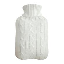 2000 мл морозостойкая безопасная большая бутылка для горячей воды защитная Съемная зимняя крышка теплая Взрывозащищенная моющаяся вязаная