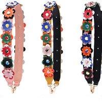 Fashion Women Bags Straps Belt Accessories Color Shoulder Messenger Bag Accessories Widen Bags Flowers