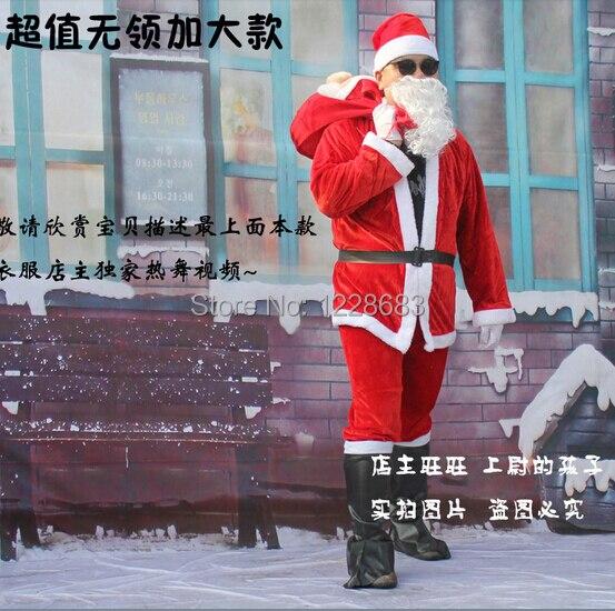 Livraison gratuite adulte Costumes de noël costume de noël pour Papai Noel