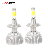2pcs C6 Series Conversion Light Head Light COB All In One Car Styling H7 Car LED
