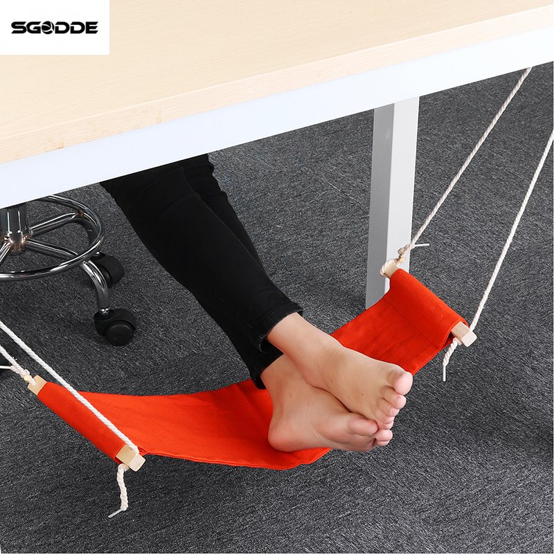 SGODDE Home Office Foot Rest Desk Feet Hammock Surfing the Internet Hobbies Outdoor Rest Foot Hammock Canvas