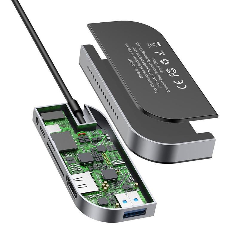 Multi USB di Tipo C C a HDMI USB 3.0 Tipo C Più Porte HUB Adapter - 3