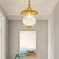 Alle kupfer kleinen Europäischen anhänger lichter eingang flur lichter Amerikanischen moderne minimalistischen balkon lampe LU8231751