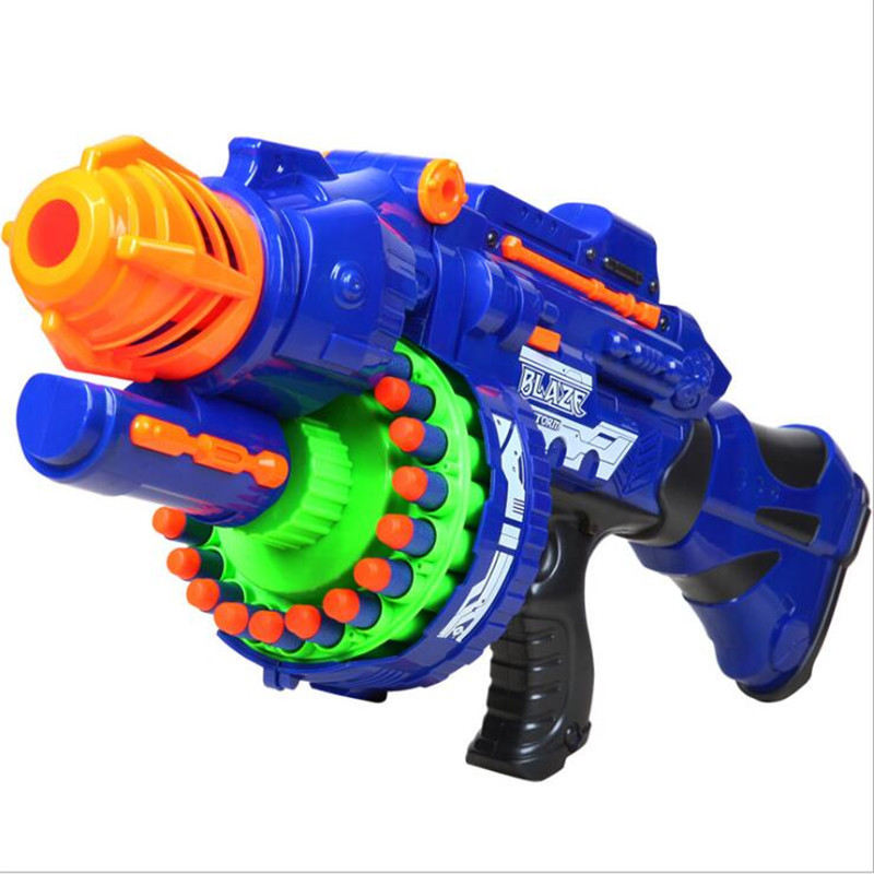 Electrical Soft eva Bullet Toy Gun Pistol Sniper Rifle Plastic Gun Continuous Launch air gun Large capacity bullet toy gun airs