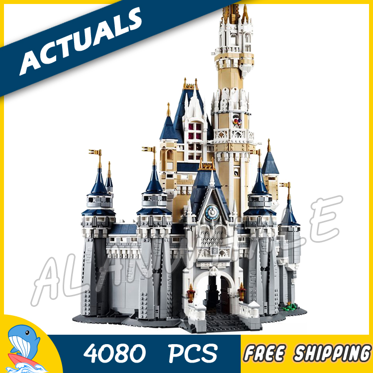 4080pcs Movie Cinderella Princess Castle City Street Creators 16008 Friends DIY Model Building Blocks Toys Compatible with Lego lepin 16008 creator cinderella princess castle city 4080pcs model building block kid toy gift compatible 71040