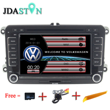 JDASTON 2 DIN 7 Pulgadas Del Coche DVD GPS de Radio Para Volkswagen VW Skoda Passat B6 Polo Golf 4 5 Tiguan Bora Caddy Touran Jetta Sharan T5