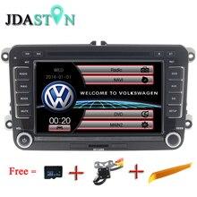 Jdaston 2 DIN 7 дюймов dvd-gps-радио для Volkswagen VW Skoda Passat B6 Поло Гольф 4 5 Touran sharan Jetta Caddy T5 Tiguan Бора