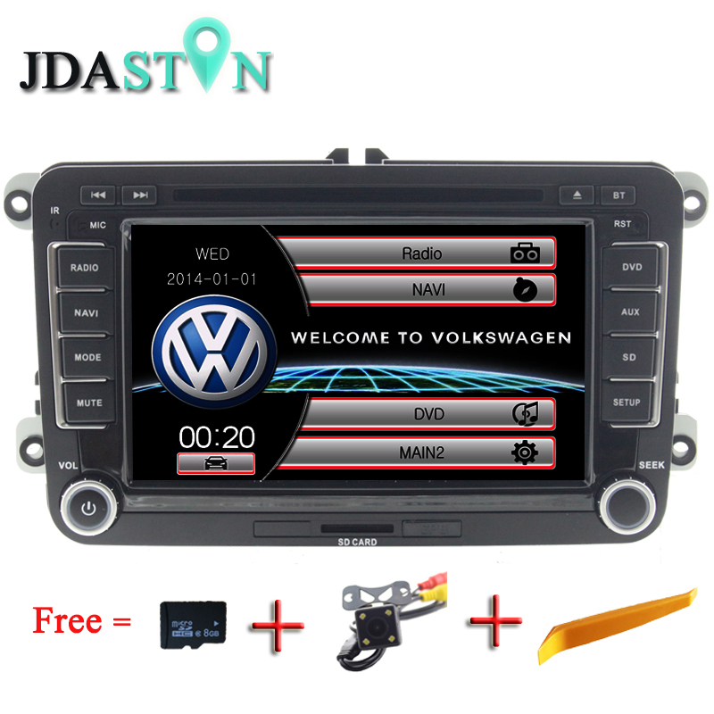 JDASTON 2 din Car Radio DVD GPS Navigation For Volkswagen VW Passat B5 B6 Polo Golf 4 5 Touran Sharan Jetta Caddy T5 Tiguan Bora