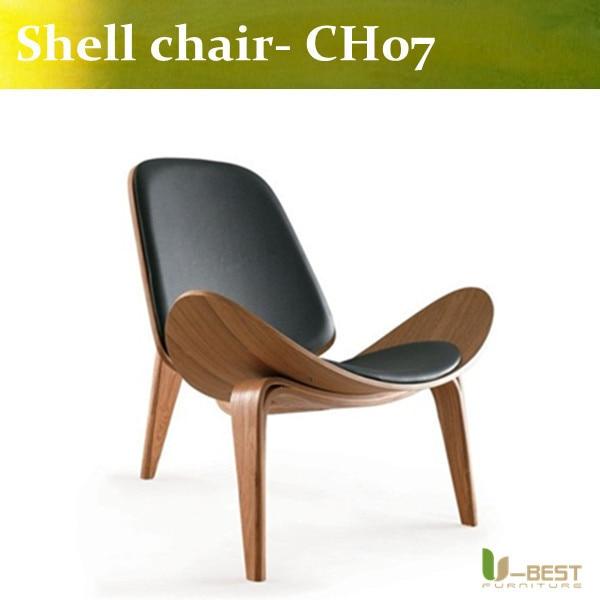 Free shipping U-best high quality plywood HANS WEGNER CH07 Shell Chair