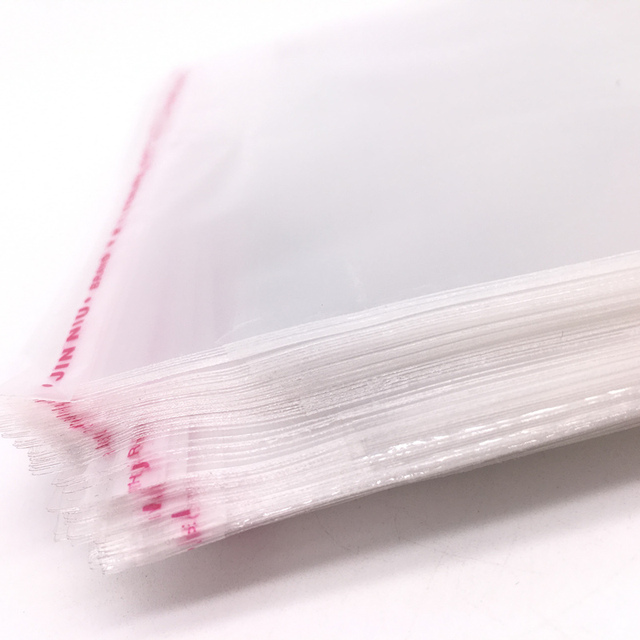 100pcs 4x6cm 22x20cm Resealable Poly Bag Transpa Opp Plastic Bags Self Adhesive Seal