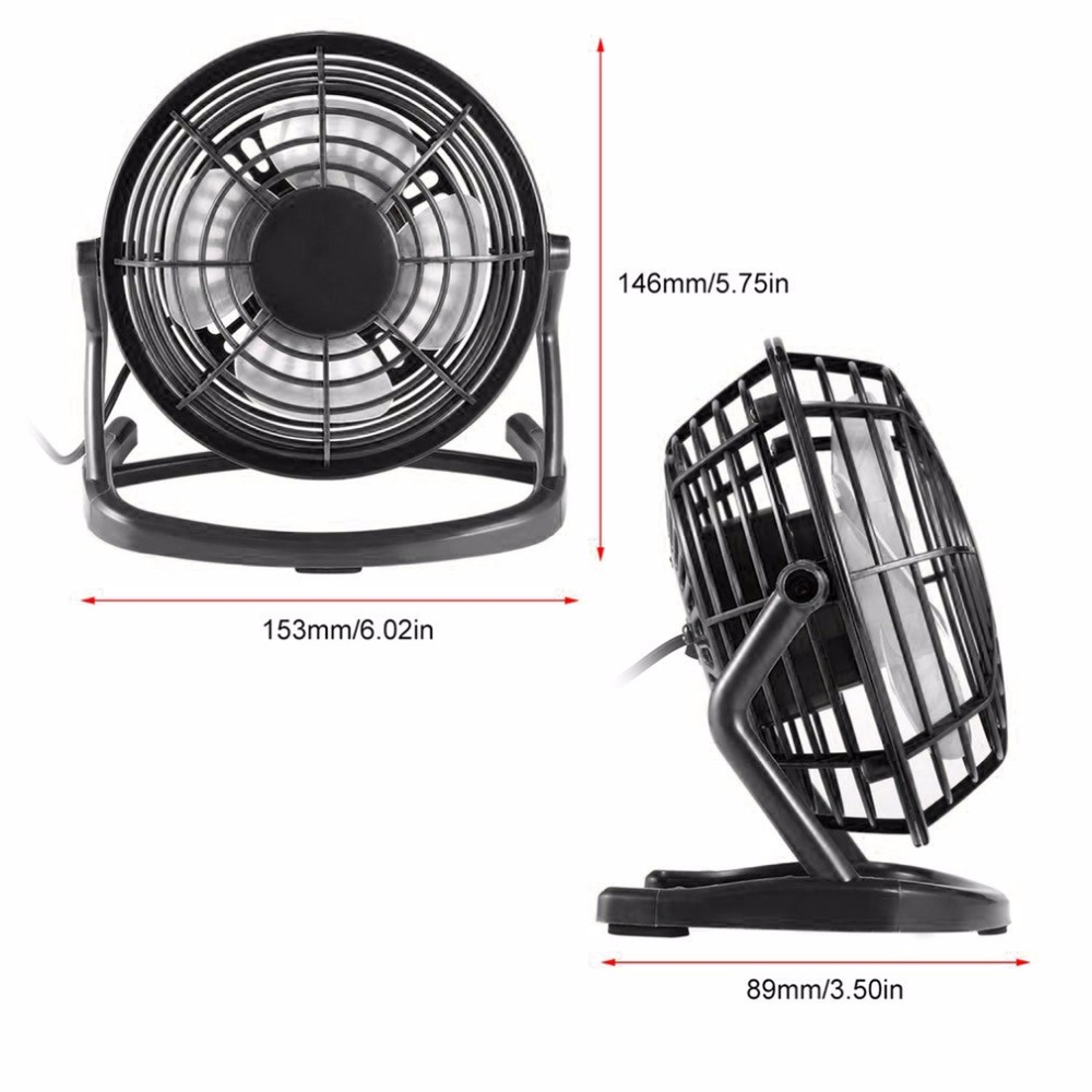 Portable USB 4 Blades Cooler Cooling Fan DC 5V Small Desk USB Mini Fans Operation Super Mute Silent PC / Laptop / Notebook original xiaomi portable usb mini fan