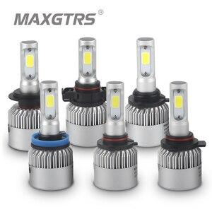 Image 2 - 2 шт., Автомобильные светодиодные лампы H1 H3 H4 H7 H8 H11 9005 9006 HB3 HB4 9012 H16 880 881 CSP COB