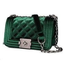 Velour Crossbody bag Fashion Women Bag Luxury Handbags Women Purses Designer Brand Ladies Chain Velvet Shoulder Messenger Bags