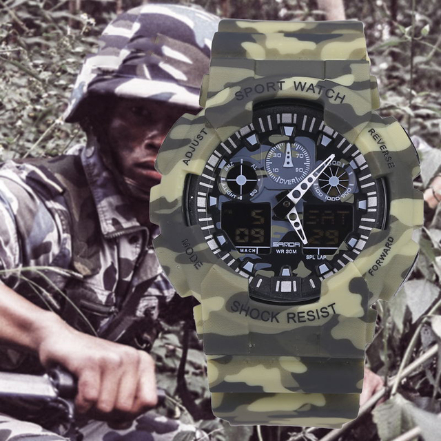Top Brand Mens Sports Watches LED Digital Watch Fashion Outdoor Waterproof Men's Wristwatches Relogio Masculino Camouflage Gifts