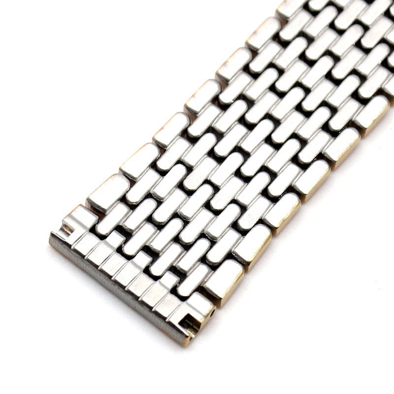 GOLD 18mm 20mm 22mm 24mm Stainless Steel Mesh Bracelet Strap Replacement Wrist Watch Band fabulous stainless steel mesh watch band pin buckle high quality 20 22 24mm watch strap for men women wrist watch replacement