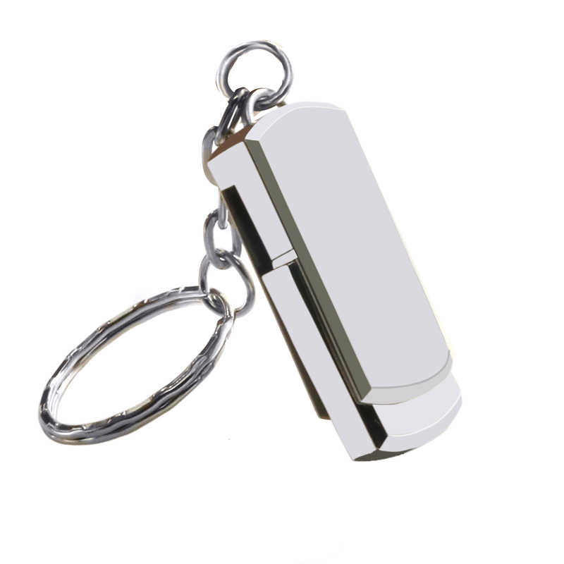 USB Flash Drive 128GB Keychain Pen drive 32GB 64GB 16GB 8GB Metal Key Ring Memory USB 2.0 Stick