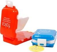 Cofoe ежедневный кейс для таблеток/небольшой дорожный кейс для таблеток/контейнер для лекарств/органайзеры для лекарств/ящик для хранения таблеток Синий Белый Оранжевый