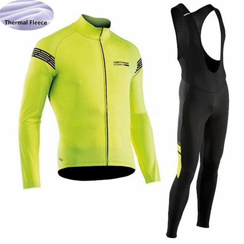 2018 pro NW equipe Men ciclismo jersey definir mangas compridas Inverno  Velo Térmico roupas de ciclismo 145f173d1207a