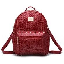 Старинные марки переплетения рюкзак хозяйственная сумка дамы bookbags школа Моды подростков девушка рюкзаки mochila femininas