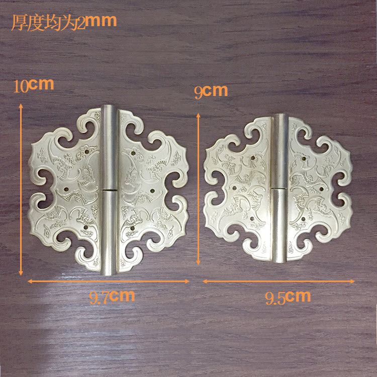 Thickening! Chinese antique furniture accessories copper top cabinet wardrobe door hinge carved. chinese furniture decorative copper accessories cabinet door latches lock long semicircle decoration accessories
